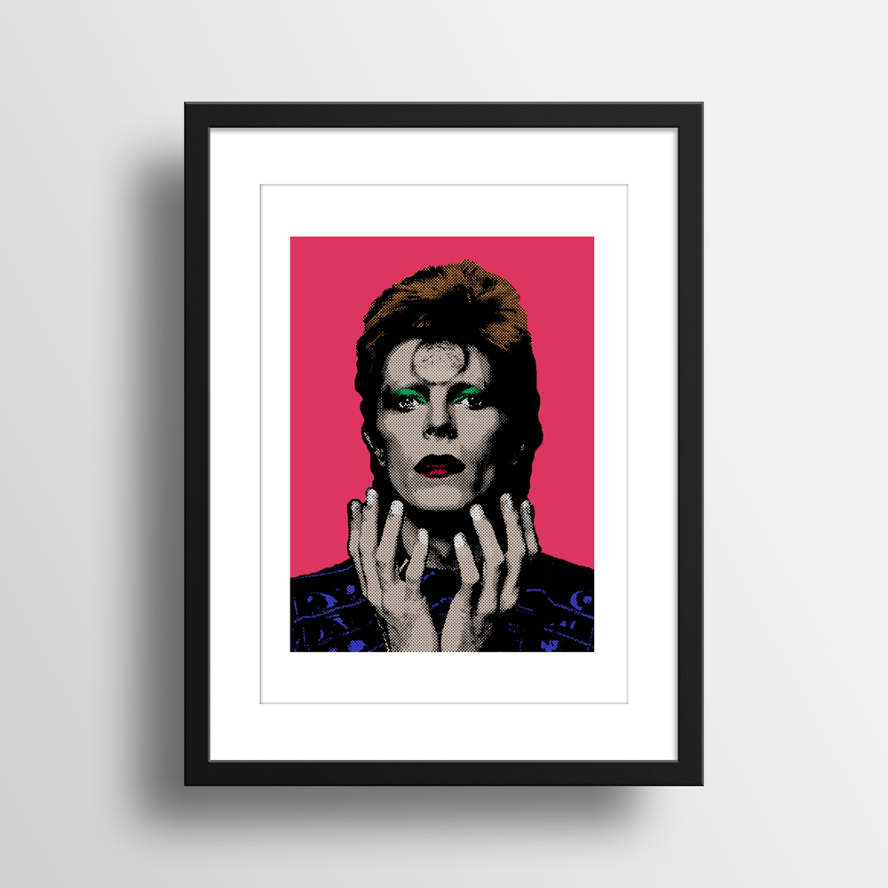 Illustrasjon av David Bowie