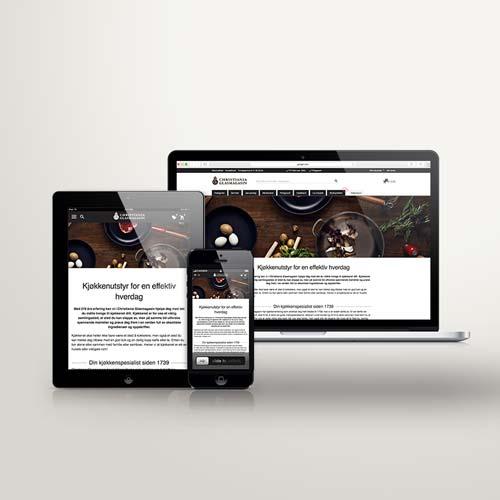 UI/UX design av bloggside for Christiania Glasmagasin