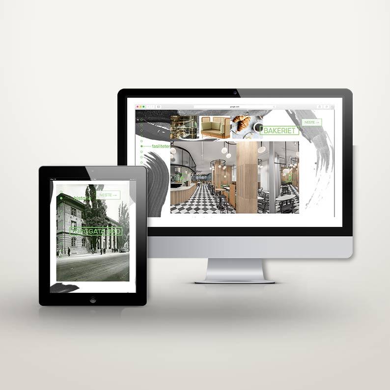 UI/UX design av digitalt prospekt parallax